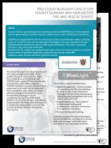 County durham and darlington Pro-Cloud BlueLight case study thumbnail