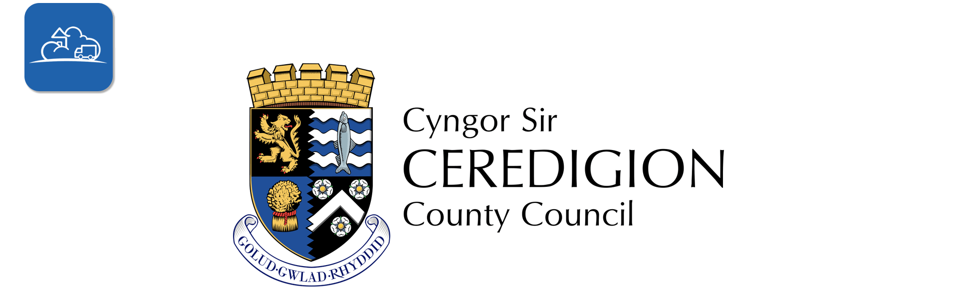 ceredigion county council logo banner