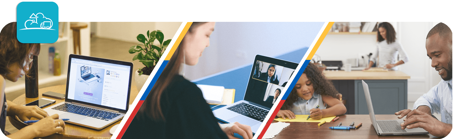 working from home examples triptech