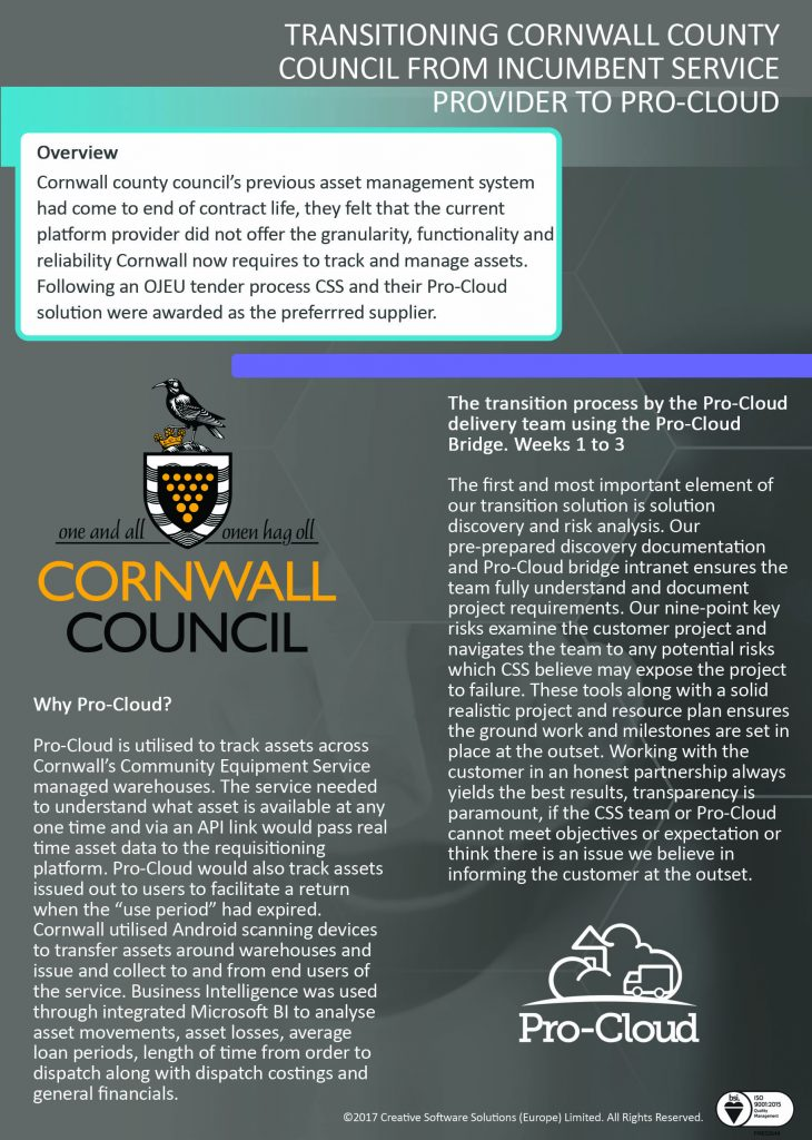 cornwall council and pro-cloud case study page 1