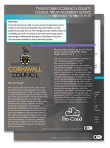 cornwall council Pro-Cloud case study