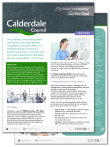 calderdale council TCES Community case study thumbnail