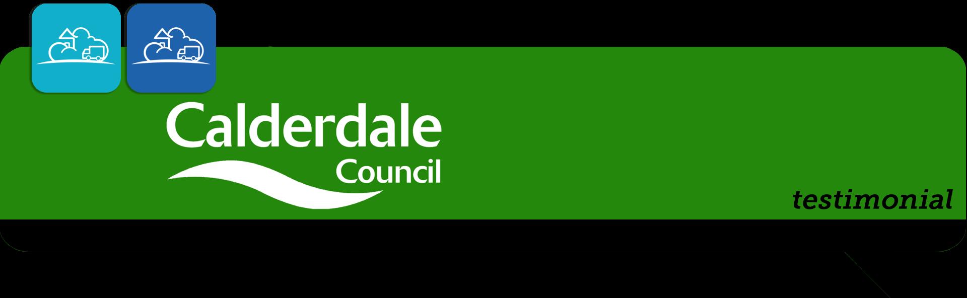 calderdale council testimonial speech bubble banner