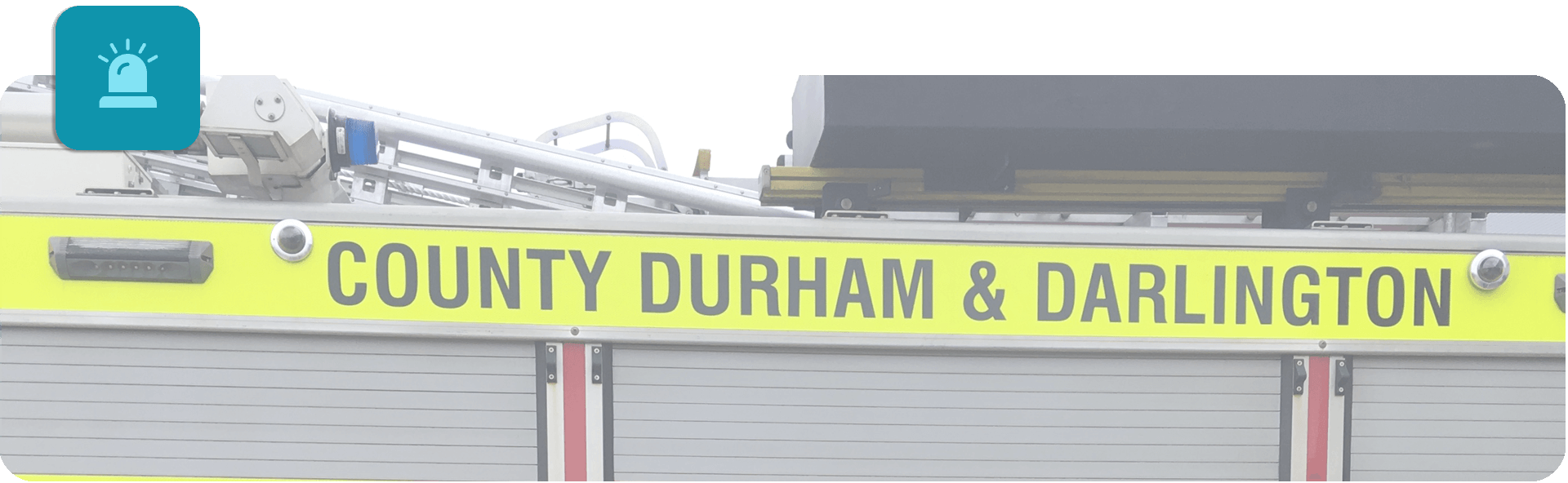 county durham and darlington fire engine close up banner