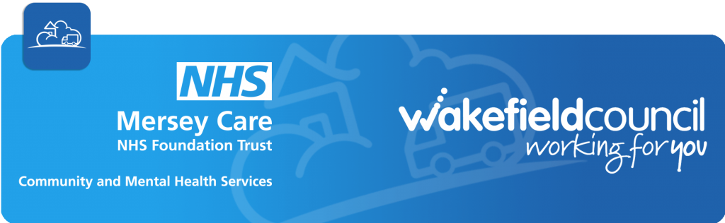 NHS mersey care and wakefield council logos
