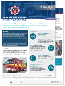 north yorkshire FRS Pro-Cloud BlueLight case study thumbnail