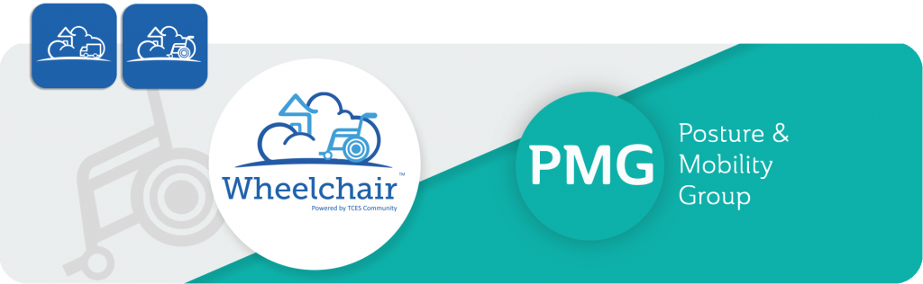 PMG logo and TCES Wheelchair