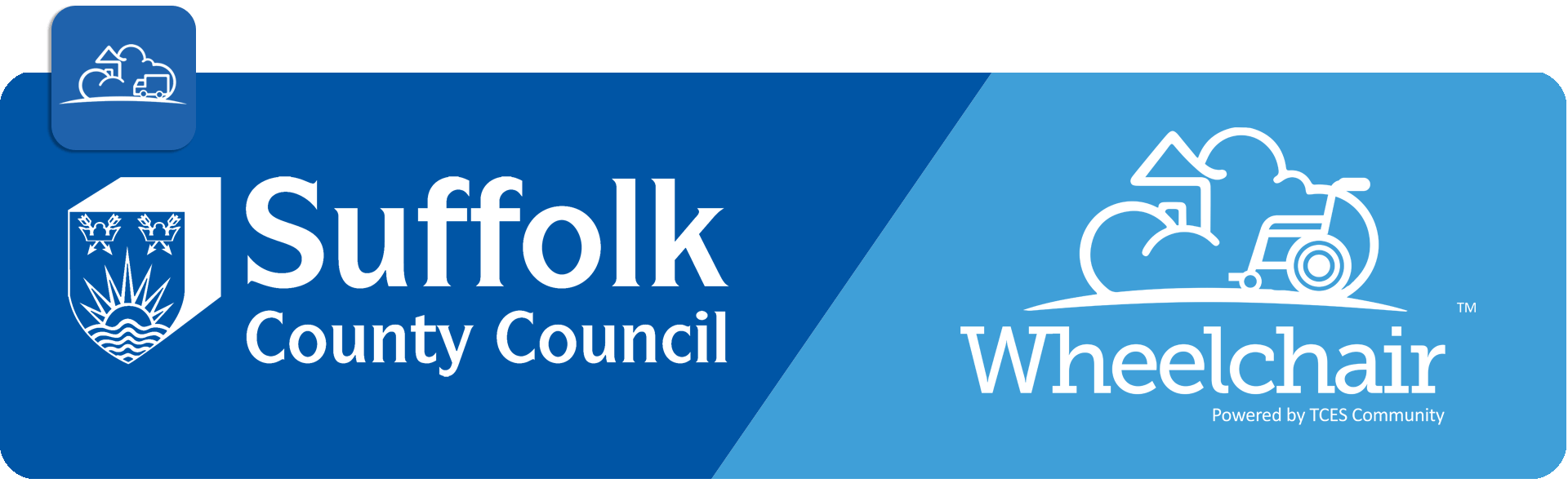 suffolk county council and TCES Wheelchair logos