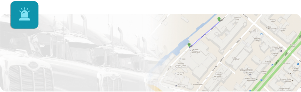 telematics banner with map