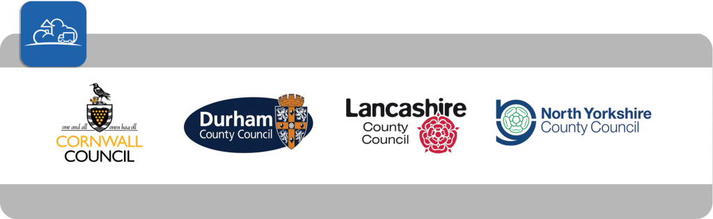 cornwal council, durham council, lancashire council and north yorkshire county council logos banner