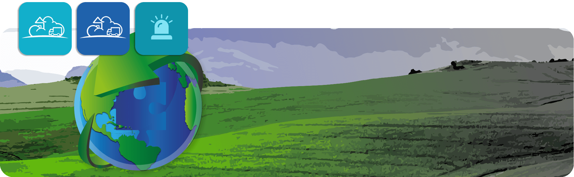 CSS world environment day logo on landscape background