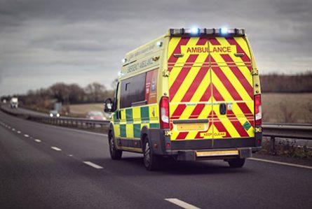 ambulance in transit